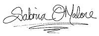 Sabrina O'Malone signature